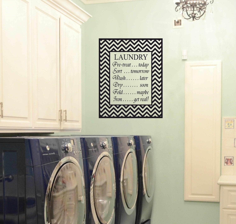 Laundry room decor vinyl wall art matt vinyl decal for Laundry room wall art