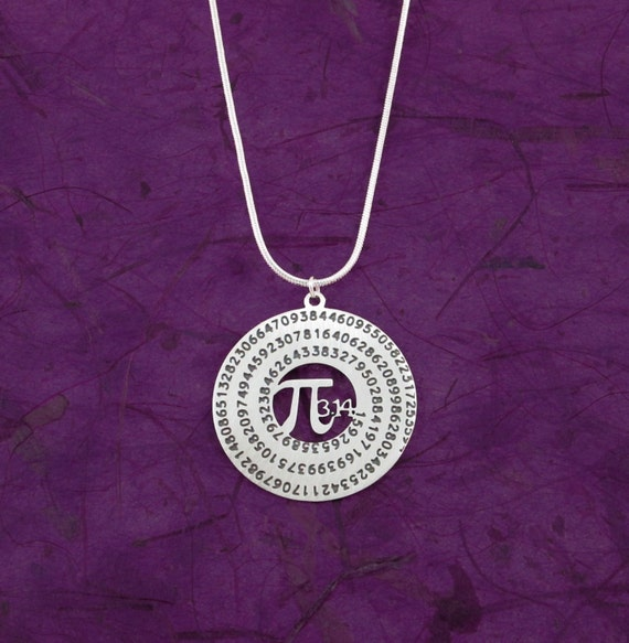 pi necklace math gift 3 14 science necklace