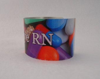 Nurse, Doctor, Medical, Personalized Cuff Bracelet - Bangle - Custom, Add-a-name, LPN, RN. MD