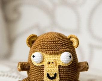 "Crochet Pattern of Monkey Elnino from ""AradiyaToys Design"" (Amigurumi tutorial PDF file)"