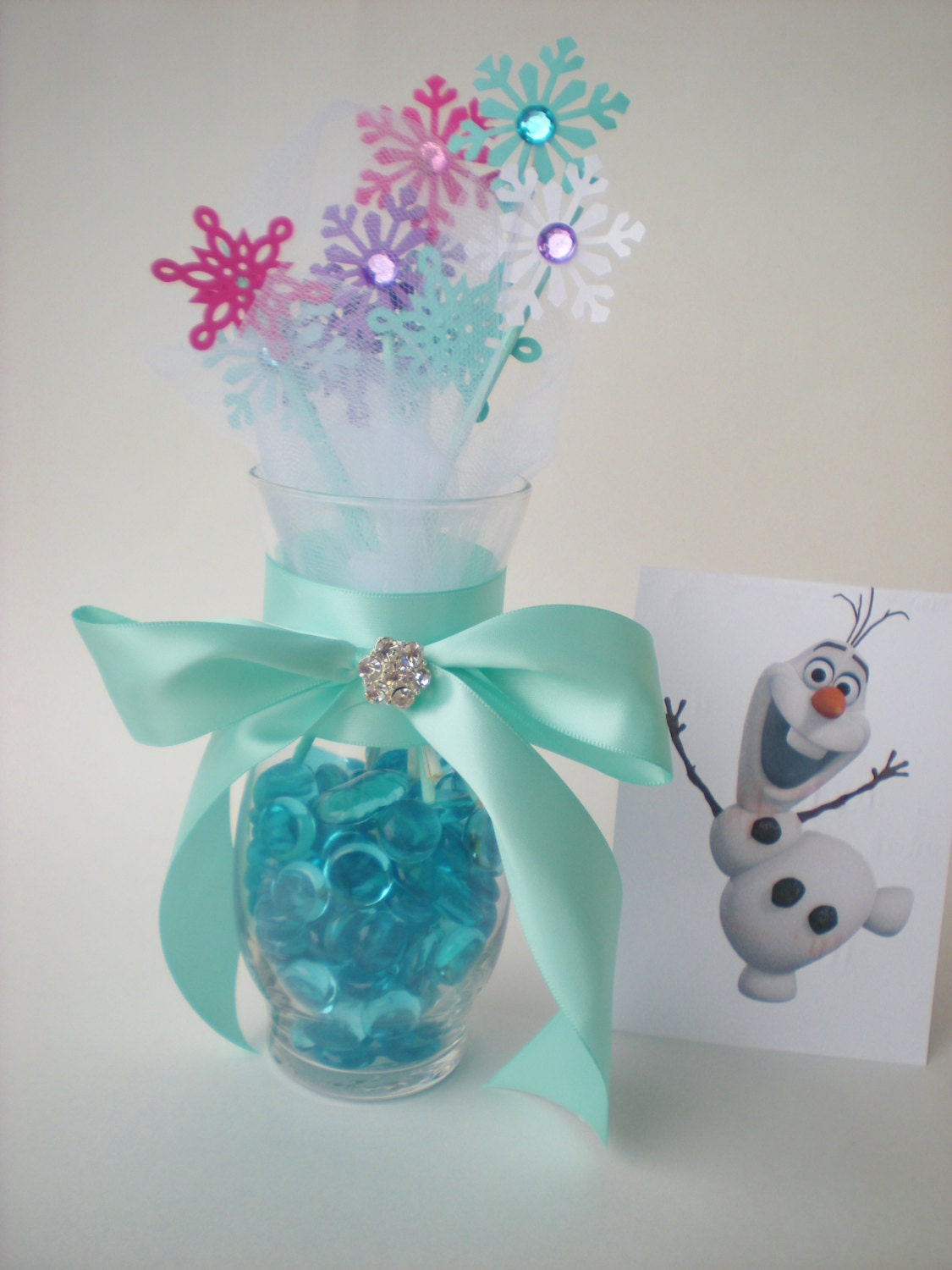 Frozen Snowflake Centerpiece Snowflakes And Tulle High