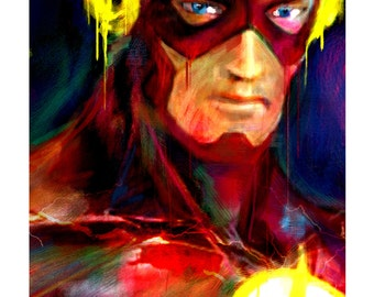 "The Flash Art Panel; Archival Quality 11""x17"" Art Print, mounted on board  **EXPRESS SHIPPING AVAILABLE**"