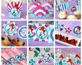 Mermaid Party - Mermaid Birthday - Under the Sea Mermaid - Party Decorations - Little Mermaid Birthday - First Birthday (Instant Download)