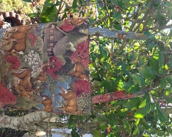 Handmade Deer Purse, Fabric, Purse, Handbag, Shoulder Bag, Diaper Bag, Over Night Bag,Book Bag,Gifts,Theme Purse, Tote Bag, Novelty Purse