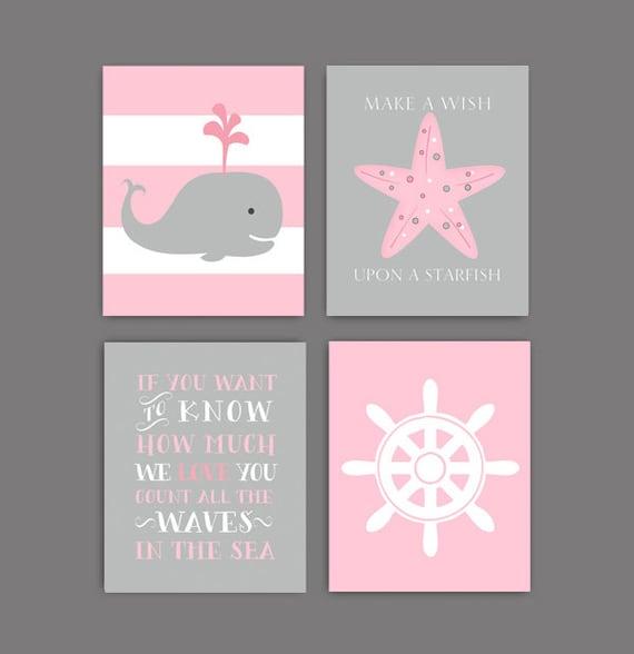 Babyzimmer mädchen grau rosa  nautik-kinderzimmer-dekor | Möbelideen