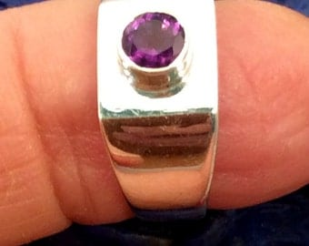 Size 6 or 6.5 Sterling Silver Ring. Carnelian, Purple Amethyst,or Labradorite. free US ship