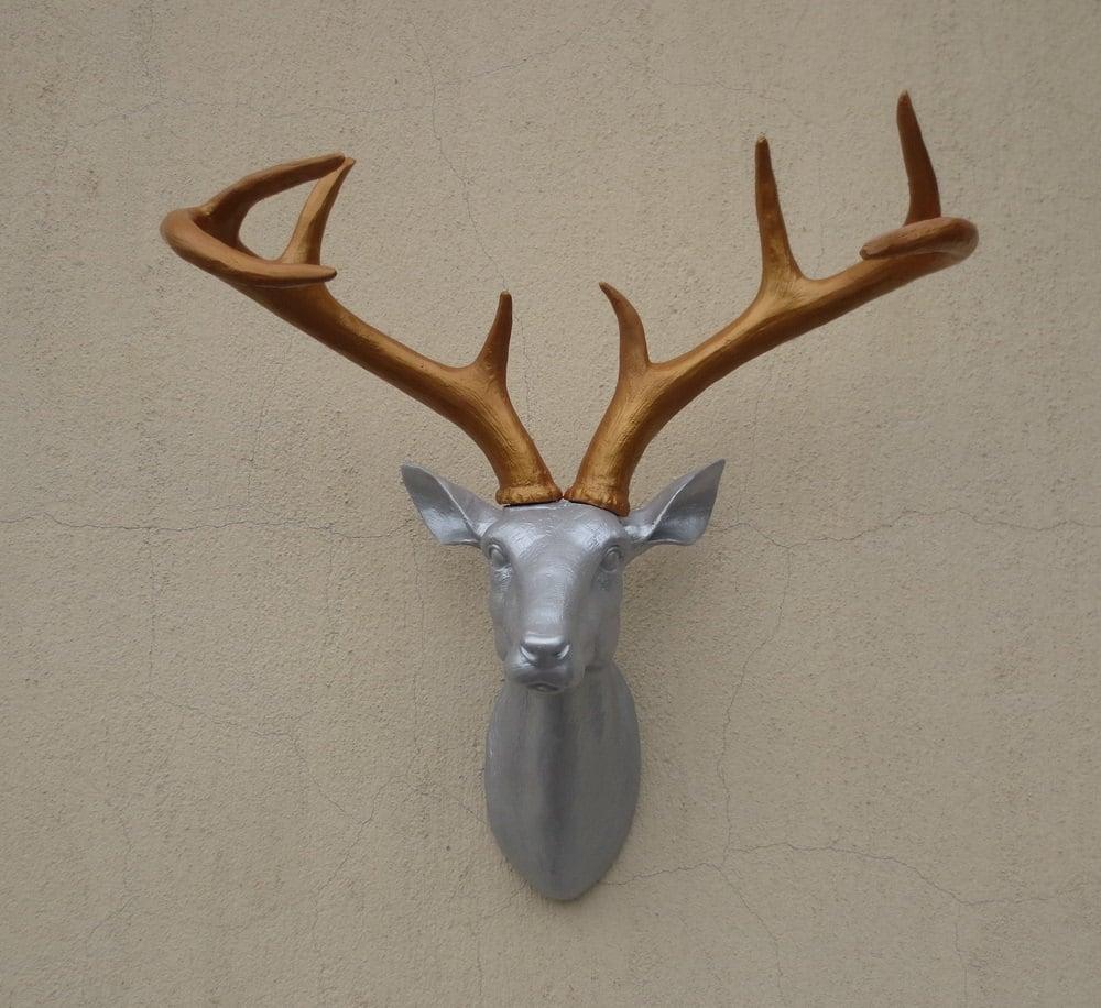 Silver Deer Antlers Wall Decor : Item details