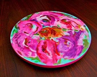 Hand Painted Lazy Susan Cheese Board