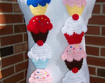 CROCHET Couture Cupcake Scarf PATTERN