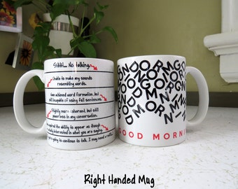 Funny Mug with Level Lines for Coffee Caffeine Addict - Left or Right Handed - I Need Coffee, Tea, Wine Gift for friend, co-worker, boss