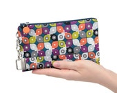 Colorful fabric purse with zipper is handmade for women - MADE TO ORDER