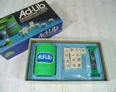 Vintage Ad-Lib Game - Retro 1970s CrossWords Cubes Competition Set - Mint Condition - Complete Original Game Equipment for Repurposing