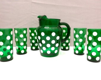 Anchor Hocking Fiesta Forest Green Pitcher Set (FREE SHIPPING)