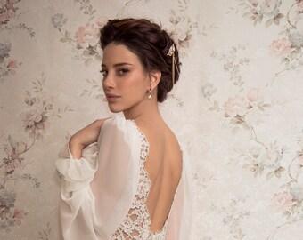Bridal Hair Accessories, Wedding Hair Comb, Bridal Hair Comb, Boho Headpiece, Boho Wedding, Gold Hair Comb, Hairpiece, Swarovski Headpiece