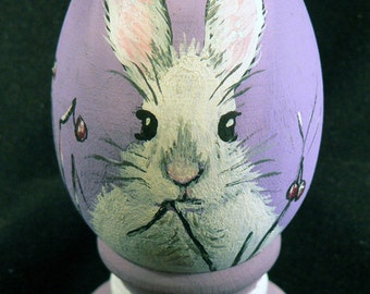 Easter Egg, hand-painted Easter Bunny