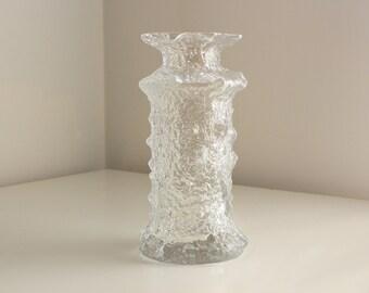 "Timo Sarpaneva Mouthblown ""Rubus"" Glass Vase, Signed, #2745"