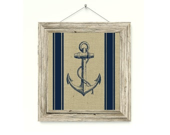 Nautical Decor - Anchor Print- Custom Colors and Sizes