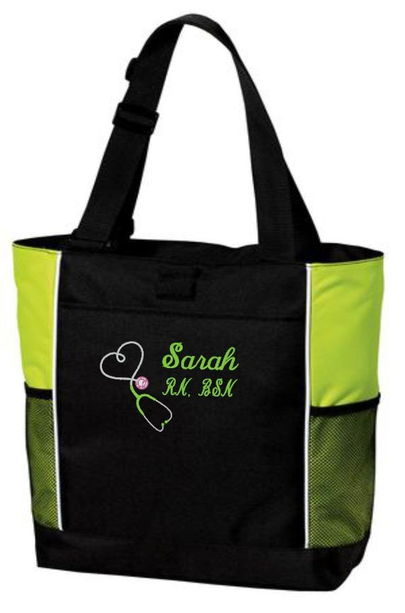 tote bag rn bsn lpn stethoscope gift for bag