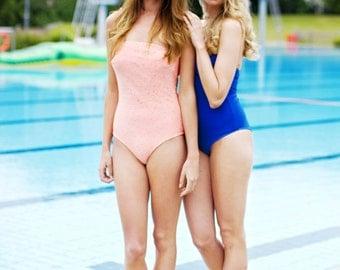 Swimsuit Bathing dress petrol blue // Maillot de bains // Bikini //  onesie
