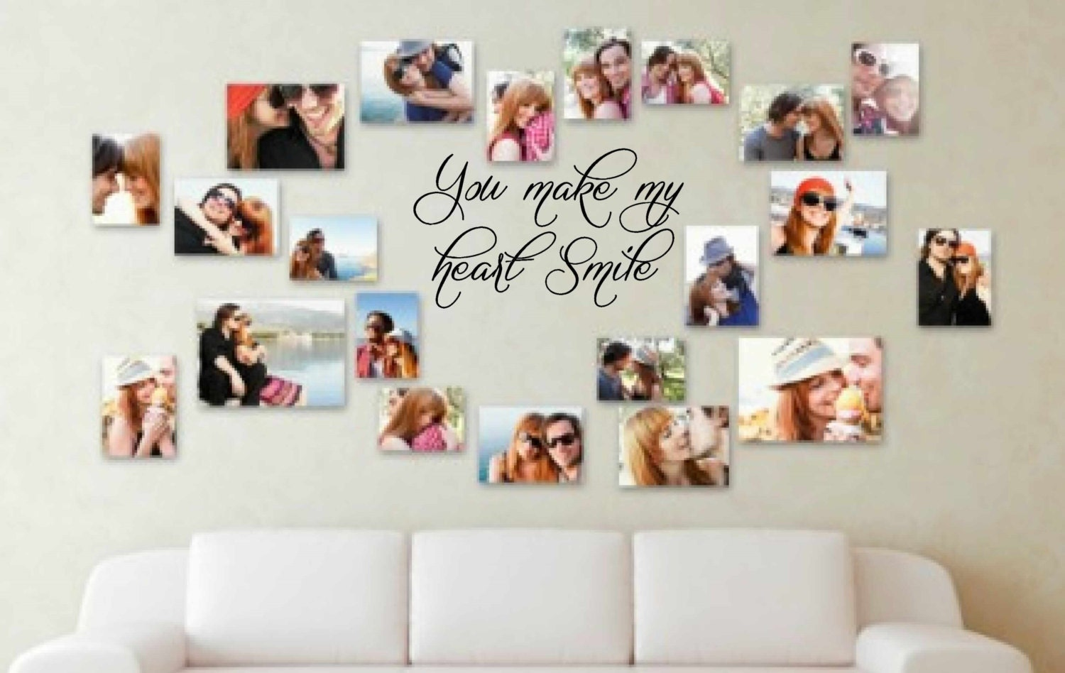You Make My Heart Smile Wall Decal Vinyl Decal Wall Art