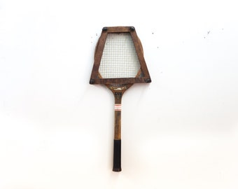 American Wright and Ditson Tennis Raquet with Brace Wrack