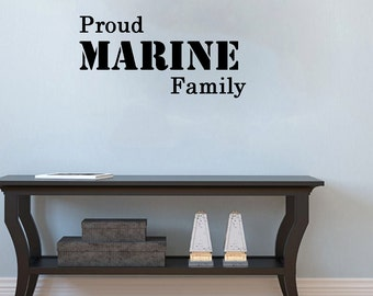 Proud Marine Family- patriotic Wall Decal-26X11