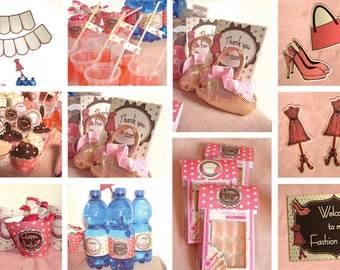 Fashion Birthday Party Theme – DIY Mini Package Printable - Non-Personalized - instant download