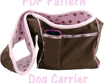 Dog Carrier PDF Sewing Pattern, Tutorial, Small Dog Purse