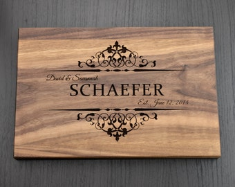 Personalized Cutting Board, Custom Wedding Sign, Custom Anniversary Gift, Housewarming Gift, Bridal Shower Gift, Decor, Wood Chopping Block