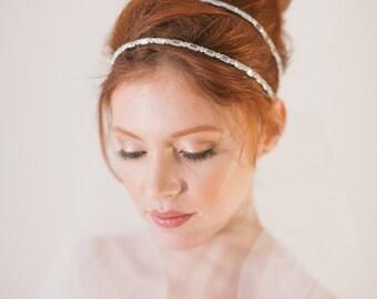 Double Strand Headband VOLE MON AMOUR Wedding Rhinestones Bridal