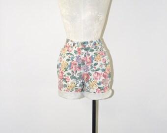 Floral denim shorts | Etsy