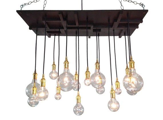 Arts and Crafts Mission Style Chandelier by