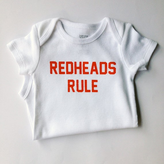 Neutral Baby Gifts Ireland : Unisex baby bodysuit redheads rule months white