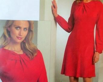 Vogue Sewing Pattern 1056, Dress Sewing Pattern, Designer Pattern, Tom and Linda Platt, Flared Dress, 2008 Pattern, Vogue Designer Pattern