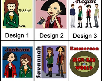Personalised Daria Mug - Ceramic Coffee Mug - With any Name or Message - Gift Idea