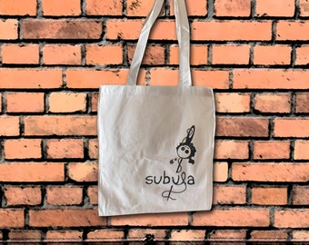 Tote Bag Subula Logo Cotton Bag Natural