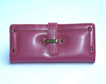 Women's Red Leather Wallet, Women's Red Leather Purse, Leather Wallet, Leather Purse, Red wallet, Red Purse , Womens wallet