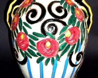 Vintage Italian Folk Art Sgraffito Lamp