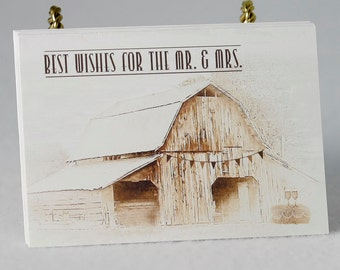 36 Rustic Country Wedding Advice Cards for Bridal Shower or Wedding Reception | Wedding Guest Cards | Marriage Advice Cards