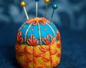 Scandinavian flower bottlecap pincushion CUSTOM MADE