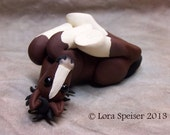 SALE* was 45.00~ Cute little Clydesdale Foal Pony Hand Sculpted Horse ooak Drafter
