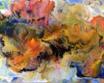 Daydream original encaustic painting