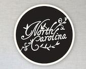 Ceramic Coasters, Set of 2, North Carolina