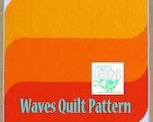 Waves Quilt Pattern, PDF download