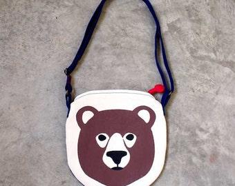 Sling Purse - Honey Bear Crossbody Sling Purse (ROYAL BLUE)