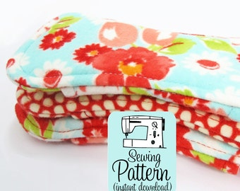 Flannel Pantyliner PDF Sewing Pattern | Cloth Pantyliner Sewing Pattern