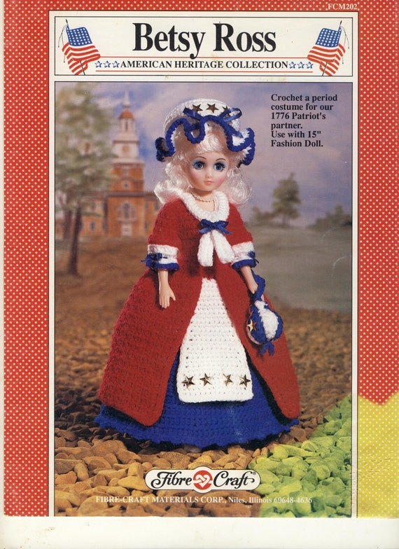 Fcm202 american heritage collection betsy ross vintage crochet pattern