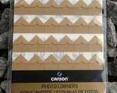 Kraft photo corners self-adhesive acid-free 252 ct.