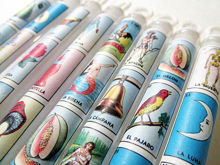 Mexican Wedding Favors Loteria Bubble Wands