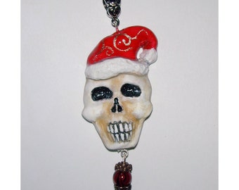 Santa Claus Skull Christmas Pendant Get your Goth Holiday Spirit On